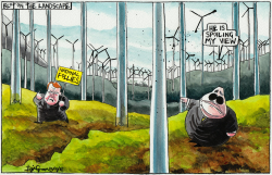 Ugly Posturing and Lovely Scottish Windfarms by Iain Green