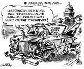 If Congress made cars by Jim Day, Politicalcartoons.com