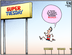 Super Tuesday The Big Hurdle by Christopher Weyant