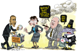 Rush Limbaugh Poor Choice of Words  by Daryl Cagle