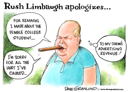 Rush Limbaugh apology by Dave Granlund