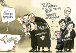 SCOTUS Up the Wazoo by Pat Bagley
