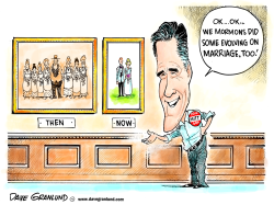 Mitt Romney and marriage by Dave Granlund
