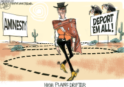 Mitt's Line on Immigration by Pat Bagley