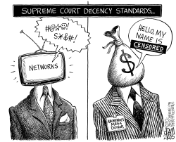 Supreme Court Decency Standards by Adam Zyglis
