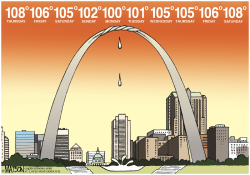 Local MO- 10 Day Heat Wave- by RJ Matson