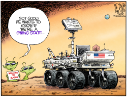 Mars The Swing State  by Christopher Weyant