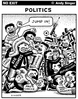 Political Fighting by Andy Singer