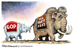 GOP and Tea Party by Dave Granlund