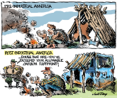 Post-Industrial America  COLOR by Jim Day, Politicalcartoons.com