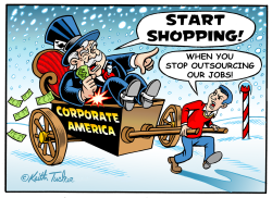 Holiday Shopping in Outsourced USA by Keith Tucker