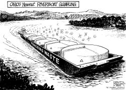 LOCAL OH - Fracking Ferry by Nate Beeler