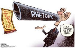 Obama Shooting  by Rick McKee