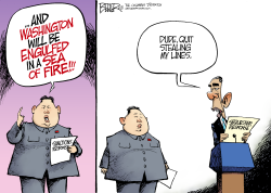 North Korea Rhetoric  by Nate Beeler