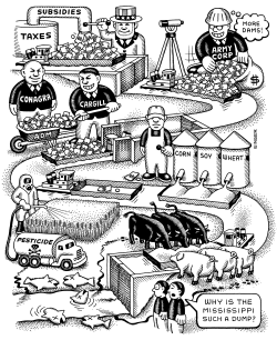 Mississippi River Pollution by Andy Singer