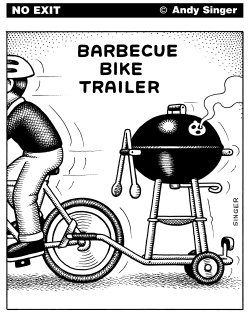 Barbecue Bike Trailer by Andy Singer