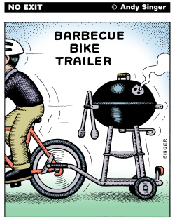Barbecue Bike Trailer  Version by Andy Singer