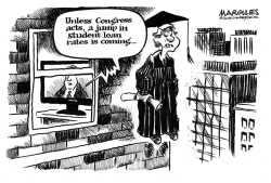 Student loan rates by Jimmy Margulies