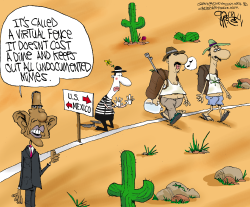 Obama's Border Fence  by Gary McCoy