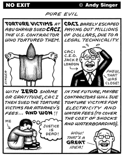 CACI Corporate Evil by Andy Singer