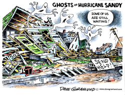 Hurricane Sandy ghosts by Dave Granlund