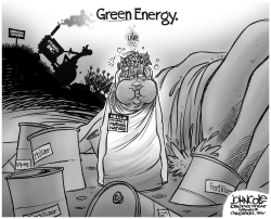 Green Energy BW by John Cole