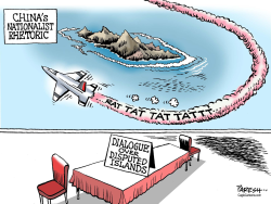 China nationalistic rhetoric  by Paresh Nath