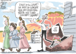Polygamy Comes Out -  by Pat Bagley