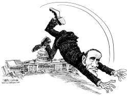 Obama Trips Over the Capitol by Daryl Cagle