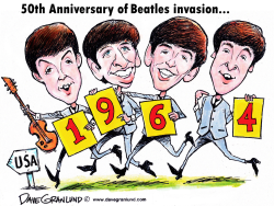Beatles US invasion 1964 by Dave Granlund