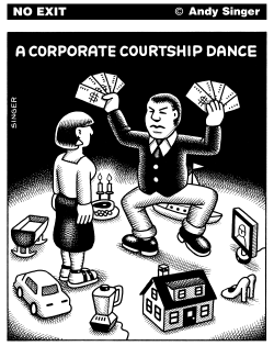 Corporate Courtship Dance by Andy Singer