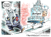 Obama budget and GOP by Dave Granlund, Politicalcartoons.com