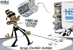 Obama's rose colored glasses  by Eric Allie