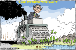 Bush on the Environnment by Wolverton