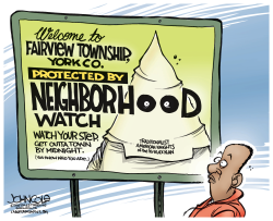 LOCAL PA -- KKK neighborhood watch  by John Cole