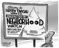 LOCAL PA -- KKK neighborhood watch BW by John Cole