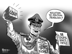 Thai military coup by Paresh Nath