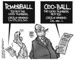 CEO lottery BW by John Cole