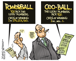 CEO lottery  by John Cole