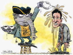 Eric Cantor and the Tea Party by Daryl Cagle