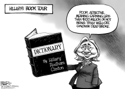 Hillary Book Tour by Nate Beeler