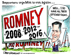 Romney supporters and 2016 by Dave Granlund