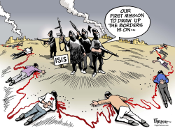 Islamic State borders  by Paresh Nath