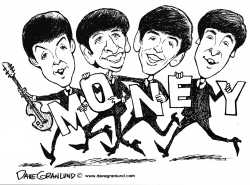 Beatles Money song 50th by Dave Granlund