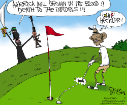 ISIS Heckles Obama  by Gary McCoy