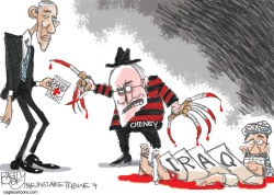 Cheney Points the Finger  by Pat Bagley