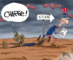 Obama Charges ISIS  by Gary McCoy