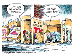 Holiday season and boxes by Dave Granlund