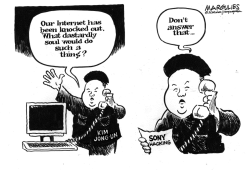 North Korea cyber attacks  by Jimmy Margulies