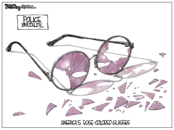 ROSE-ED GLASSES  color by Bill Day